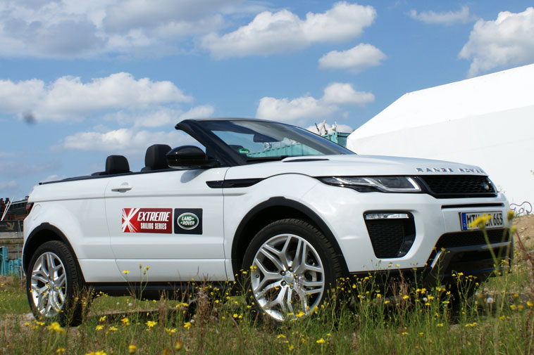 sonniger range rover evoque cabrio test ps. Black Bedroom Furniture Sets. Home Design Ideas